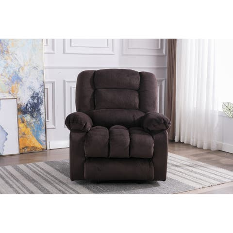 Massage Recliner Chair with Heat and Vibration (Chocolate)