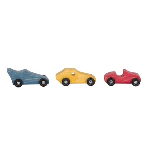 Set of 3 Colorful Race Cars
