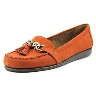 Aerosoles Super Soft Women W Round Toe Leather Orange Flats