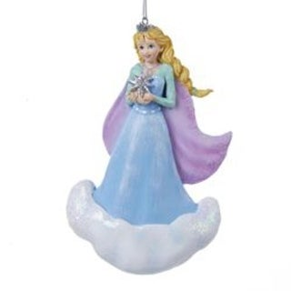 """4.75"""" Ice Palace Snow Princess Christmas Ornament for Personalization"""