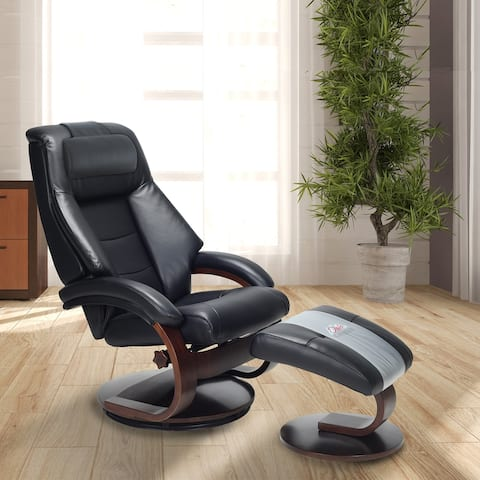 Oslo Collection by Mac Motion Mandal Recliner and Ottoman