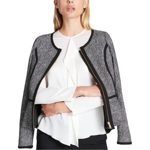 Dkny Womens Jacquard Blazer Jacket