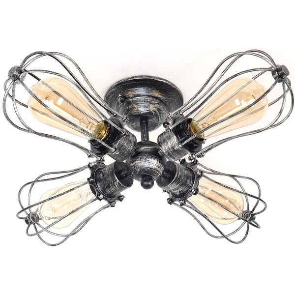 4 light antique industrial ceiling lamp edison ceiling light