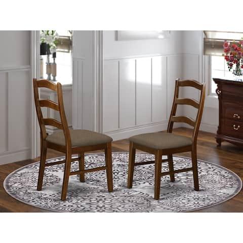 Henley Cinnamon/ Espresso Ladder Back Dining Chair (Set of 2)