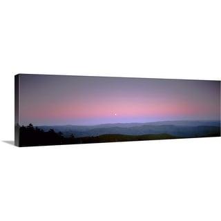 """Mountains at dusk, Great Smoky Mountains, Great Smoky Mountains National Park, North Carolina"" Canvas Wall Art"