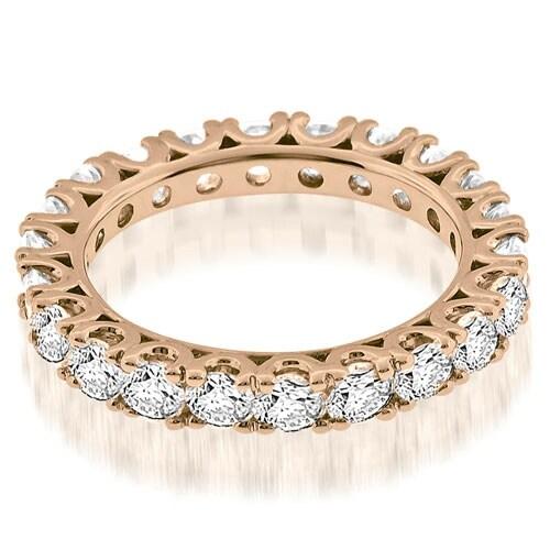 2.20 cttw. 14K Rose Gold Classic U-Prong Round Diamond Eternity Band Ring