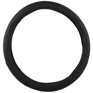 KM World Black 14.5-15 Inch PU Leather Steering Wheel Cover With Precise Hand Placements, Fits Honda Pilot