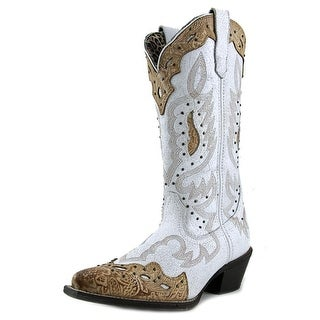 """Laredo Lad 12"""" Western Snip Toe Pointed Toe Leather Western Boot"""