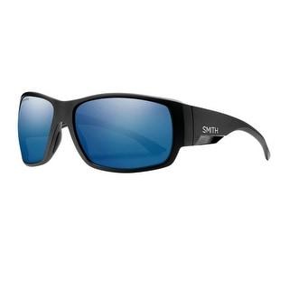 Smith Optics Sunglasses Mens Lifestyle Dockside Black Blue Mirror DCCP - matte black blue mirror - 56x44x17x125