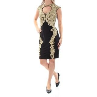 BETSY & ADAM $249 Womens New 1511 Black Lace Cut Out Sheath Dress 4 B+B