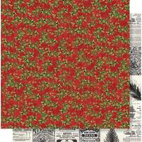 """Simple Vintage Christmas Double-Sided Cardstock 12""""X12""""-Deck The Halls"""