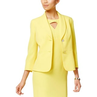 Kasper Womens Two-Button Blazer Crepe Shawl-Collar (3 options available)