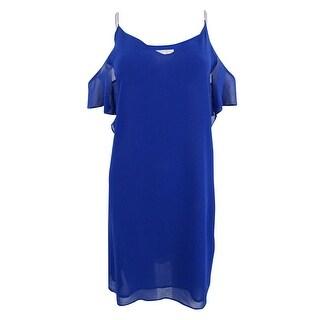 Michael Kors Women's Embellished Cold-Shoulder Dress - Bright Royal - L
