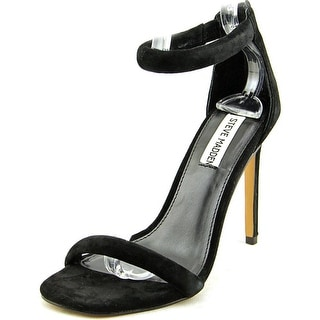Steve Madden Fancci Women Open Toe Synthetic Black Sandals