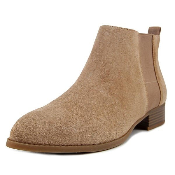 Nine West Nolynn Women Pointed Toe Suede Tan Ankle Boot