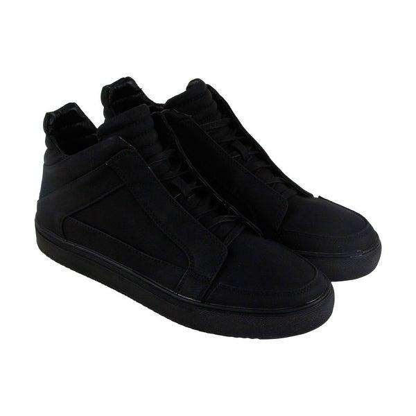 f2b34a4ac3a Shop Steve Madden Defstar Mens Black Leather High Top Lace Up ...
