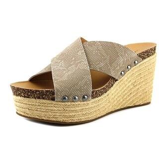Lucky Brand Neeka Feather Grey Sandals
