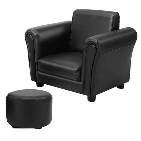 Costway Black Kids Sofa Armrest Chair Couch Children Toddler Birthday