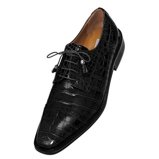 Ferrini Dress Shoes Mens Alligator Leather Lace Up Tassel Oxford F216