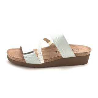 Naot Womens Naot Leather Open Toe Casual Slide Sandals