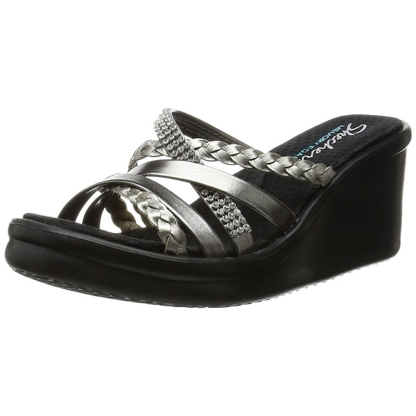 972ac584727c Shop Skechers Cali Women s Rumblers Wild Child Wedge Sandal