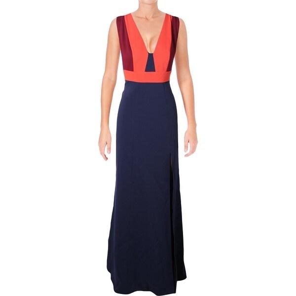 63bf7c78e89ab BCBG Max Azria Womens Natalli Formal Dress Woven Colorblock - 4
