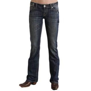 Stetson Western Denim Jeans Womens Dark Wash 11-054-0818-0702 BU