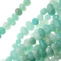 Amazonite Grade A Gemstones, Pebbles 5-7mm, 15 Inch Strand, Aqua