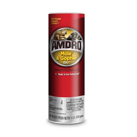 Amdro 100510486 Mole & Gopher Bait, 1 lbs