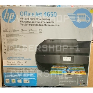 HP OfficeJet 4650 Wireless All-in-One Printer w Mobile Printing  (F1J03A) - BLACK