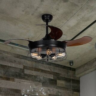 Link to 46-inch Industrial 4-Blades Ceiling Fan with Light Kit Similar Items in Ceiling Fans