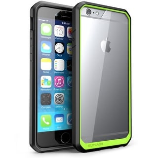 Apple iPhone 6 Case,Unicorn Beetle Series Premium Hybrid Protective Bumper Case-Clear/Green/Black