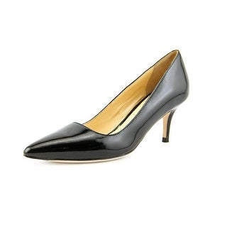 Cole Haan Bradshaw Pump .65 Women C Pointed Toe Patent Leather Black Heels