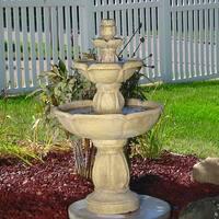 Sunnydaze Birds' Delight Outdoor Water Fountain - 35 Inch Tall