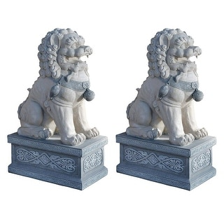 Design Toscano Giant Foo Dog of the Forbidden City Sculpture: Set of Two