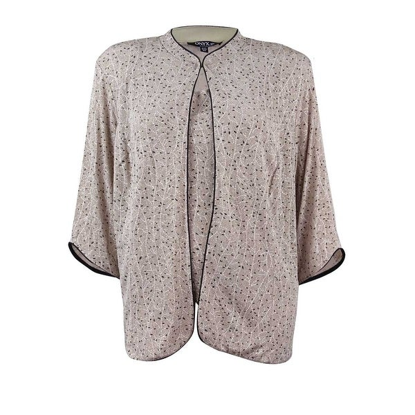 700ec343a3f3 Shop Onyx Nite Women's Plus-Size 2PC Glitter Mandarin Blouse Set ...