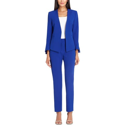 92d9eac968f Tahari ASL Womens Pant Suit Textured Flare Sleeves