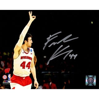 Frank Kaminsky Signed Wisconsin Badgers Three Fingers Raised In Air 8x10 Photo
