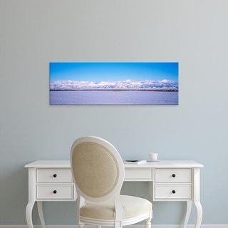 Easy Art Prints Panoramic Images's 'USA, Montana, Bozeman, Bridger Mountains' Premium Canvas Art