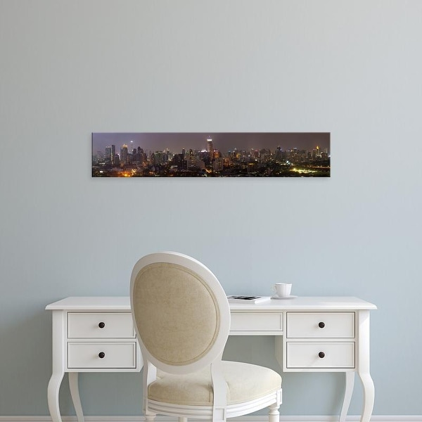Easy Art Prints Panoramic Images's 'High angle view of city at dusk, Bangkok, Thailand' Premium Canvas Art