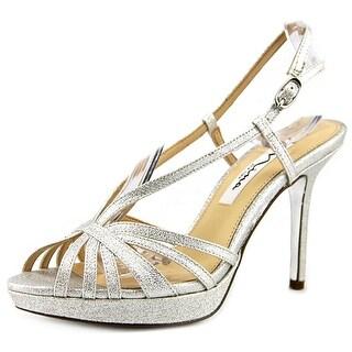 Nina Fenix Open Toe Synthetic Platform Heel
