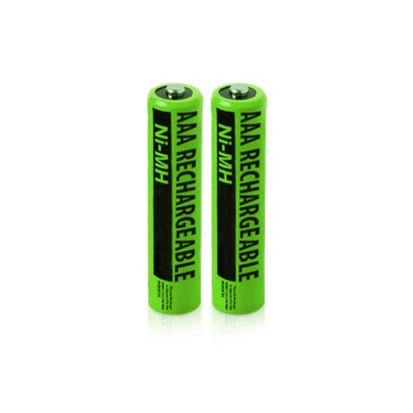 NiMH Premium AAA Size Rechargeable Replacement Batteries w/ High Capacity 1800mAh (2-Pack)