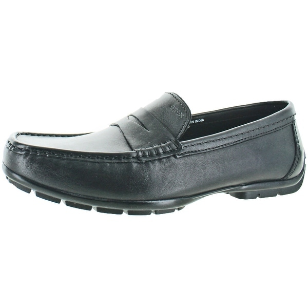 Geox Monet Men's Leather Slip On Penny Loafers Shoes