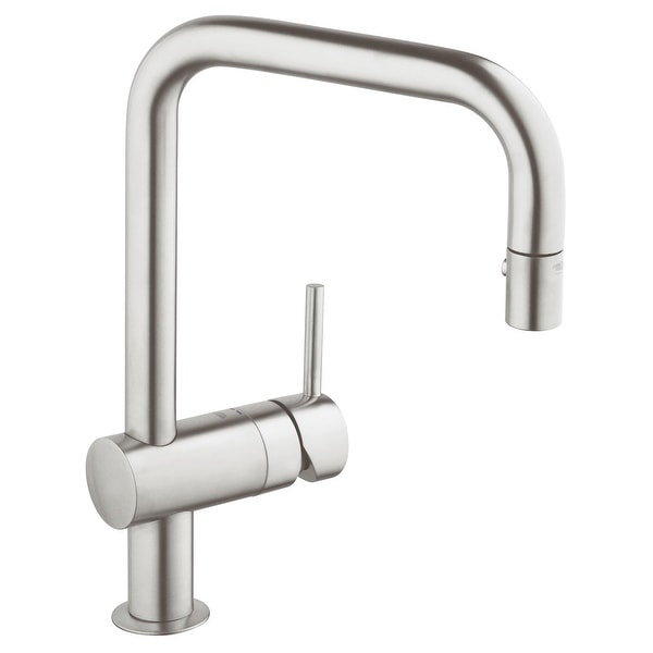 Grohe 32 319 Minta Pull-Down Kitchen Faucet with 2-Function Locking Sprayer
