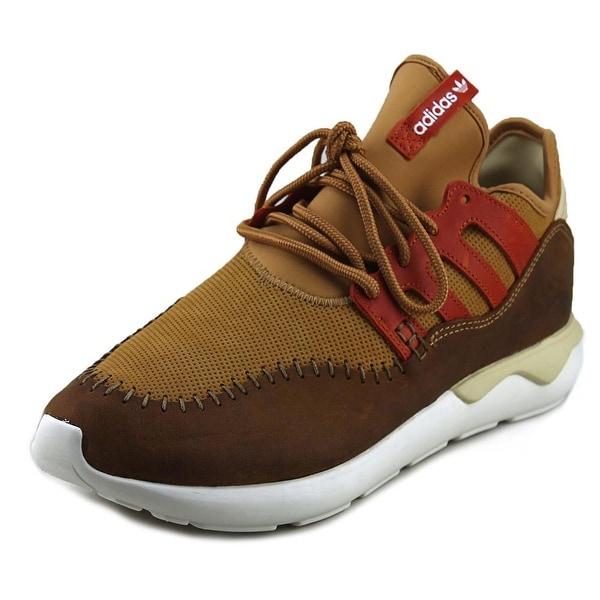 Adidas Tubular Moc Runner Round Toe Suede Running Shoe