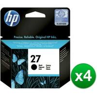 HP 27 Black Original Ink Cartridge (C8727AN) (4-Pack)