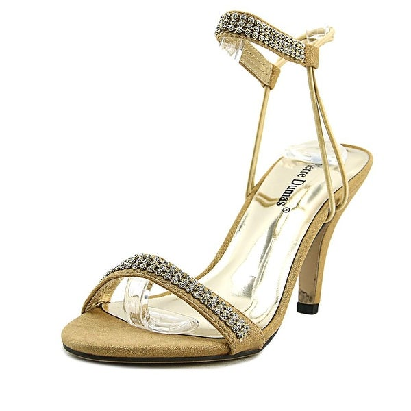 Pierre Dumas Adora-14 Women Open-Toe Synthetic Gold Heels