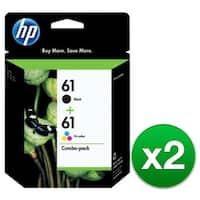 HP 61 Black & Tri-Color Original 2 Ink Cartridges (CR259FN)(2-Pack)