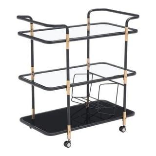 Zuo Modern 100191 Secret Serving Cart - Black & Gold