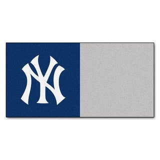 MLB New York Yankees Team Carpet Tile Flooring Squares 20 PC Set N A